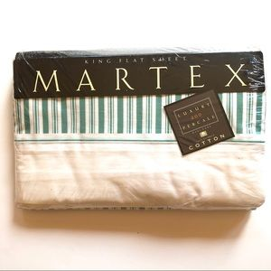 Vtg King Flat Sheet New In Package -  Martex